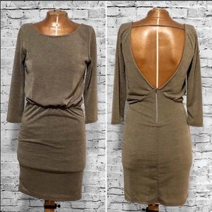 Honey Punch Metallic Bronze Bodycon Dress EUC